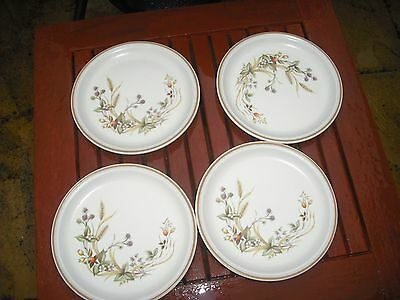 "4 x M & S  Harvest Pattern 6 1/4"" Side Plates"