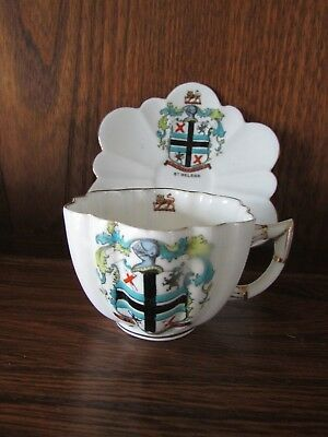 Foley China Crested Ware~St Helens~crest Cup and Saucer