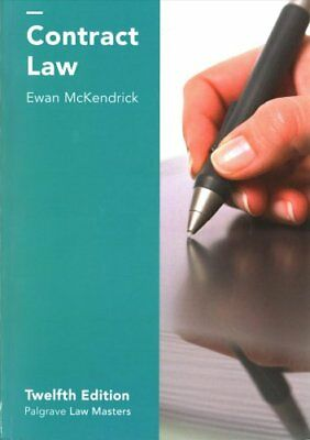 Contract Law by Ewan McKendrick (Paperback, 2017)