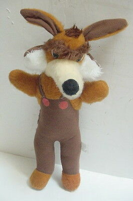 "RARE version 21"" 1978 Vintage WILE E COYOTE Toy Stuffed Animal Plush A-1 Novelty"