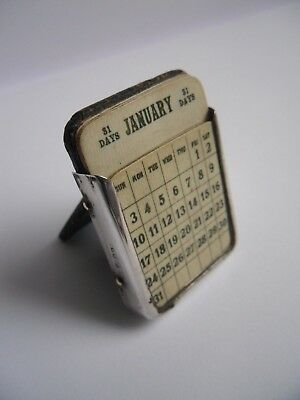 antique sterling silver perpetual calendar