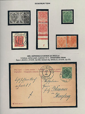 OLD AUSTRIA BOSNIA 1900. DOUBLE PRINT ASSEMBLY IMPOSSIBLE MISSION for this issue