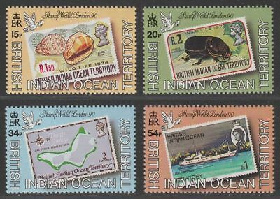 British Indian Ocean Territory 1990 QEII Stamp World London Set Mint SG102-105