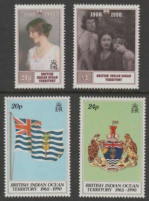 British Indian Ocean Territory 1990 Queen Mother / 25th Anniv of Territory Mint