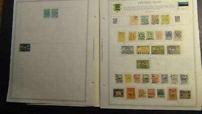 Estonia stamp collection on Minkus pages to '41