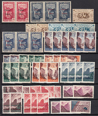 REUNION 1943 1947  France libre  neufs ** MNH cote 158€ DOM  french colonies
