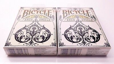 Lot of 2 (sealed) Bicycle Arch Angels Deck Playing Cards Ellusionist
