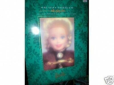 Barbie Holiday Caroler Porcelain Doll Mint In Box