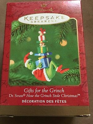 2000 Hallmark Dr Seuss Gifts For The Grinch Ornament New NIB