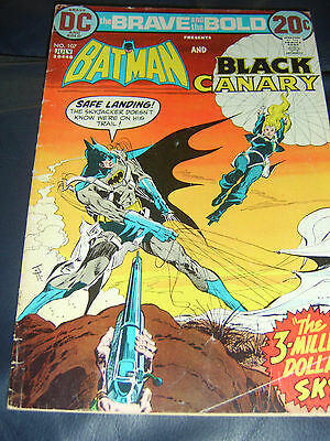 Brave And The Bold #107 July 1973 (FN-) Batman & Black Canary Bronze Age