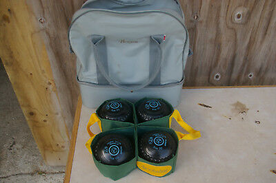 Thomas Taylor Lignoid Bowls Size 00 With Carry Bag And Accessories