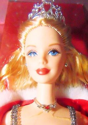 Large Barbie Doll Christmas 2001 Holiday Shimmer Gown Display Box Nrfb Home Art
