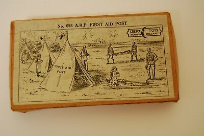 Vintage Crescent Lead Soldiers A.r.p. First Aid Post No ; 695 Box Lid
