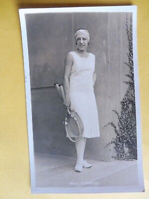 Tennis Player Suzanne Lenglen 1930's RPPC