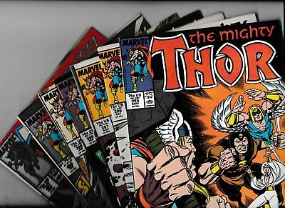 The Mighty Thor Marvel Comic # 395, 96, 97, 98, 99, 400, 01. Volume 1 1988/89