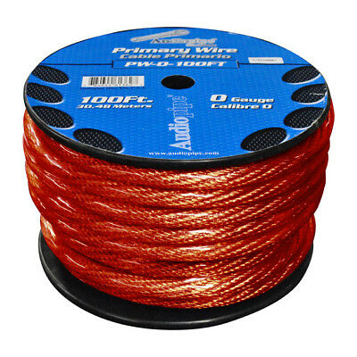 Nippon  Pw0100Rd Power Wire 0Ga. 100' Red Audiopipe