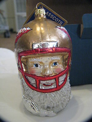 Slavic Treasures College Football Florida St Seminoles Santa Helmet Ornament