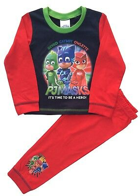 Kids Boys PJ Masks Pyjamas Pjs Sleepwear Ages 18 months to 5 years (MA8)