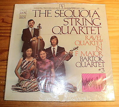 NEU SEALED: THE SEQUOIA STRING QUARTET Ravel Bartok LP DELOS DMS (Japan)