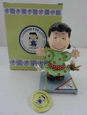 "Peanuts Looking For Lucy ""And Let it Begin With Me"" Figurine w/ Box"