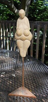 SUPERB STATUE of VENUS of WILLENDORF--STONE AGE FERTILITY GODDESS.