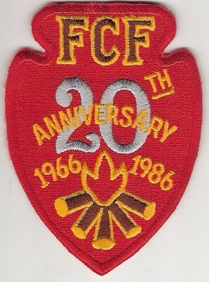 ROYAL RANGERS NATIONAL FCF 20th Anniversary Patch Partially Embroiled