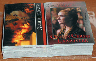 Game of Thrones Season 4 ~ COMPLETE 100-CARD BASE SET