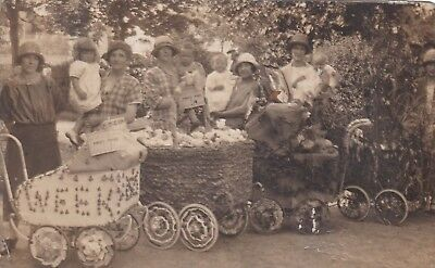 Unusual A J Guy Stafford Rp Postcard Pram Decorating Competition
