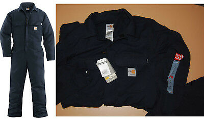 11d7b57c23db Carhartt FR Flame Resistant Work Coverall 100162 410 Dark Navy 40 Tall New  Tags