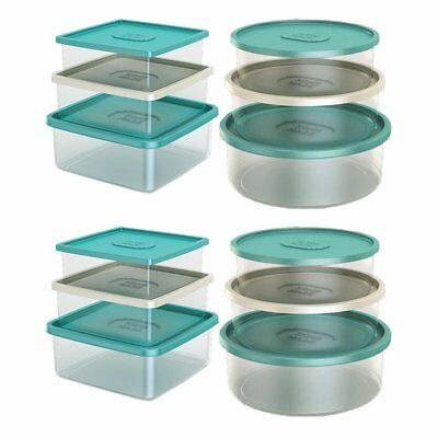 Life Story 24 Piece Nested Classic Airtight Round Square Food Storage Containers