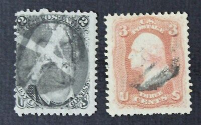 CKStamps: US Stamps Collection Scott#93 94 (2) Used CV$70