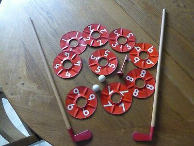 Vintage Golf Putting Practice Game 1950s  Rare & Collectable