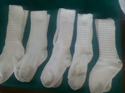 Lot of 5 Pairs of Irish Dance Poodle Socks Antonio Pacelli & Feis Mates - Size M