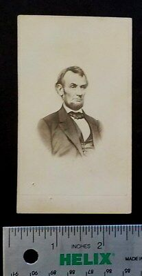 1 CDV photo Of President Lincoln / 1866 with Internal Revenue Stamp(C660)