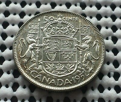 1952 ❀ King George VI ❀ Silver 50 Cents Half Dollar Canada