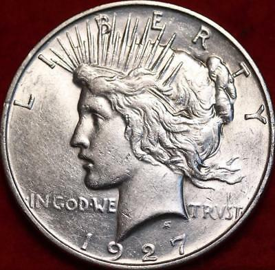Uncirculated 1927-D Denver Mint Silver Peace Dollar Free S/H