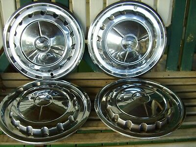 1957 Chevy Hub Caps In Good Used Condition, Set Of 4. Original Condition