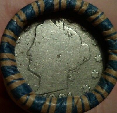 Estate Mixed Vintage Nickel Roll with Liberty V Nickel & Buffalo Nickel ends n2