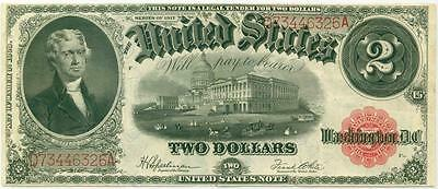 1917 $2 United States Note Legal Tender Speelman - White Large Size Note