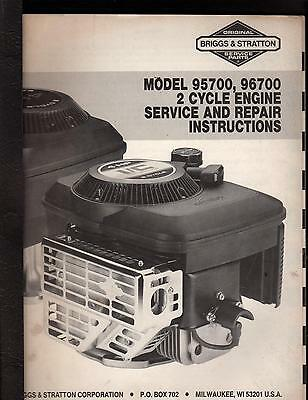 Briggs & Stratton 2 Cycle Engine Service Manual Model 95700 & 96700