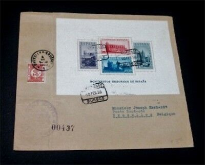 nystamps Spain Stamp # B108E Used on Cover