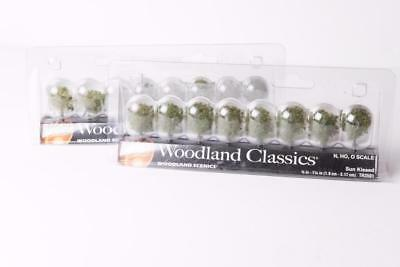 2 Sets of 8 Woodland Scenics  Sun Kissed Small Trees HO & N & O Scale