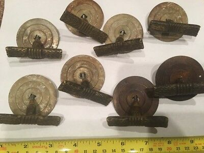 Antique Brass Drawer Cabinet Knob Pulls 8 Art Nouveau