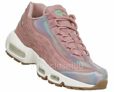 5a968a4923 Nike Air Max 95 SE Red Stardust Pink White Iridescent Womens Trainers  918413 600