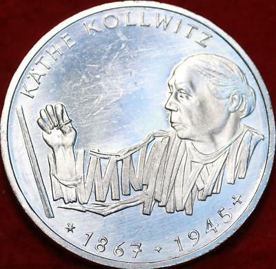 Uncirculated 1992-G Germany 10 Mark Foreign Silver Coin Free S/H