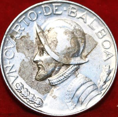 1933 Panama 1/4  Balboa Silver Foreign Coin Free S/H