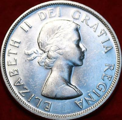 Uncirculated 1958 Silver Canada $1 Dollar Foreign Coin Free S/H