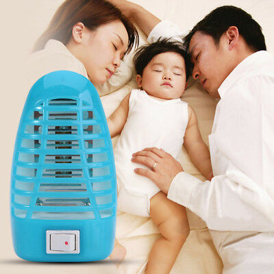 LED Electric Mosquito Fly Insect Trap Zapper Killer Night Lamp European Plug