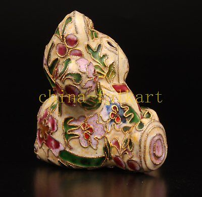 Cloisonne Lovely Handmade Teddy Bear Statue Pendant Decorations Collectable Old