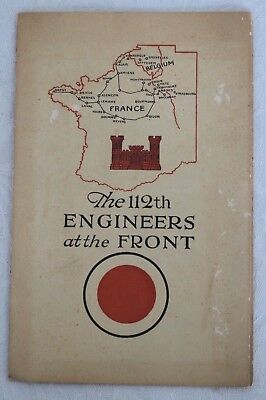Wwi 112Th Us Engineers At The Front Expeditionary Forces France Book Booklet